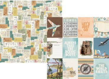 "Simple Stories   simple vintage Traveler ""10457 3x4 Elements"""