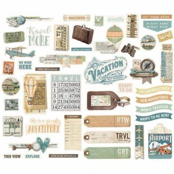 "Simple Stories   simple vintage Traveler ""46 Cardstock-Die-Cut"""