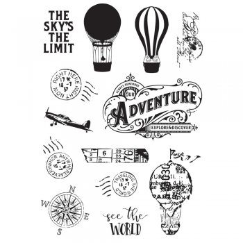 "Simple Stories   simple vintage Traveler "" Stempel see the world"""
