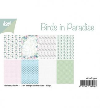 "Joycrafts Papierblock "" 6011/0597 Birds in Paradise"""