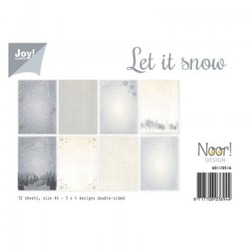 "Papier-Pack von Joycrafts - Let it Snow"" 6011/0516"