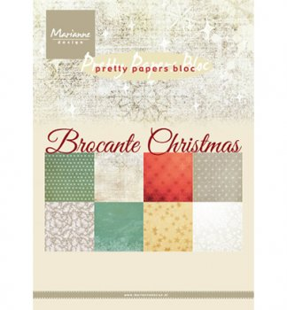 "Mariannedesign  Paper bloc"" Brocante Christmas"""