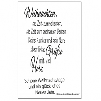 "Efco Clear Stamp Set A7 ""Weihnachten 3"""