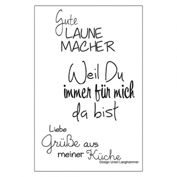 "Efco Clear Stamp Set A7 ""Gute Laune Macher"""