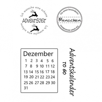 "Efco Clear Stamp Set A7 ""Advent"""