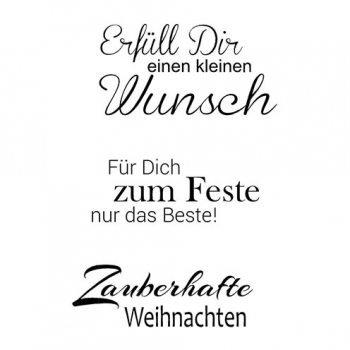 "Efco Clear Stamp Set A7 ""Weihnachten 7"""