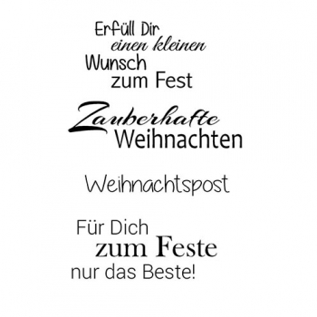 "Efco Clear Stamp Set A7 ""Weihnachten 10"""