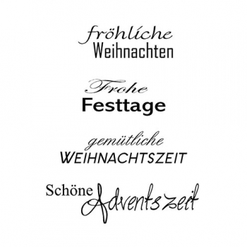 "Efco Clear Stamp Set A7 ""Weihnachten 11"""