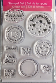"Efco Clear Stamp Set A7 ""Zauberdrops"""