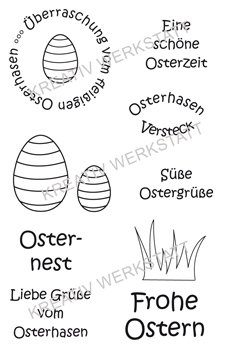 "Efco Clear Stamp Set A7 ""Ostern 4"""