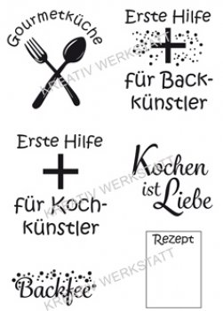 "Efco Clear Stamp Set A7 ""Kochkünstler"""