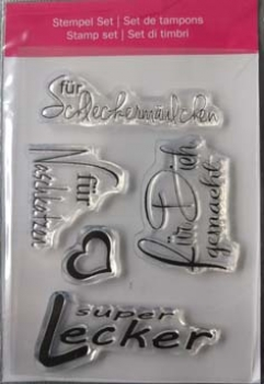 "Efco Clear Stamp Set A7 ""super lecker"""