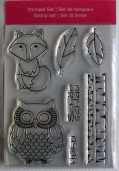"Efco Clear Stamp Set A7 ""Fuchs / Eule"""