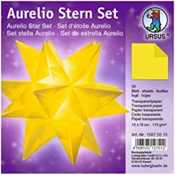 "Aurlio Star Set "" 15cmx15cm transparent"""