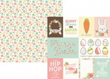 Design-Papier 7839 Journaling Cards Elements