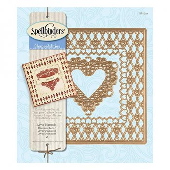"Spellbinder Stanzschablone "" S6-019 -Lovin`Diamonds"""