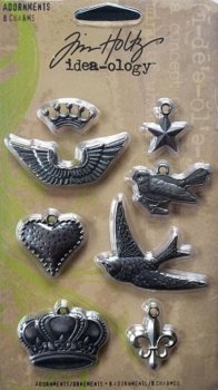 "Tim Holtz "" Adornments Charms"""