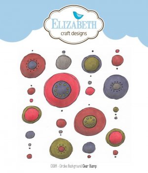 "ELIZABETH craft designs Stempe l "" CS 089 Circles Background"""