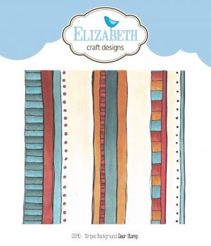 "Elisabeth Craftdesign ""Stempel  CS090 Stripes Background Clar stamp"""