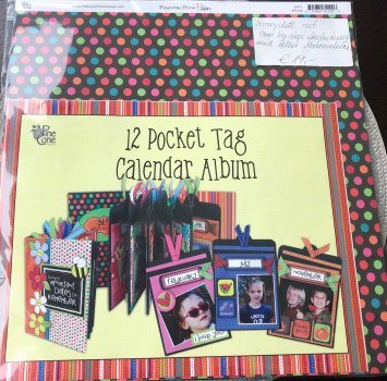 12 Pocket Tag Calendar Album