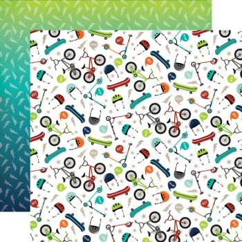 "Design-Papier Echo Park -""Imagine that - POP A Wheelie 147010"""