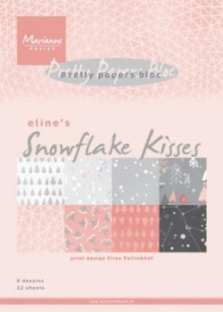 "Mariannedesign  Paper bloc ""Snowflake Kisses"""