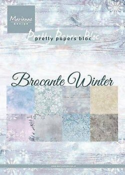 "Mariannedesign  Paper bloc "" Brocante Winter"""