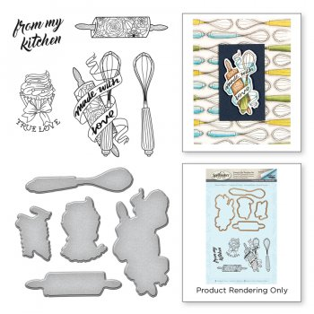 "Spellbinders Stanzschablone  mit Stempel "" Kitchen Collection "" SDS-074"