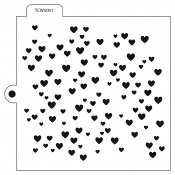 "TCW Stencil 5001 ""Heart-Background"""