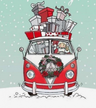 "Clear-Stempel "" Weihnachtsbus"""