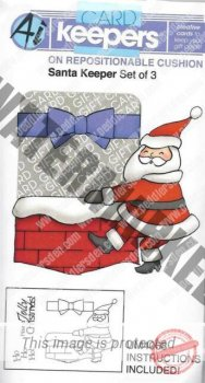 "Art Impression Cling Stempel  "" UM 4068 Santa Keeper"""