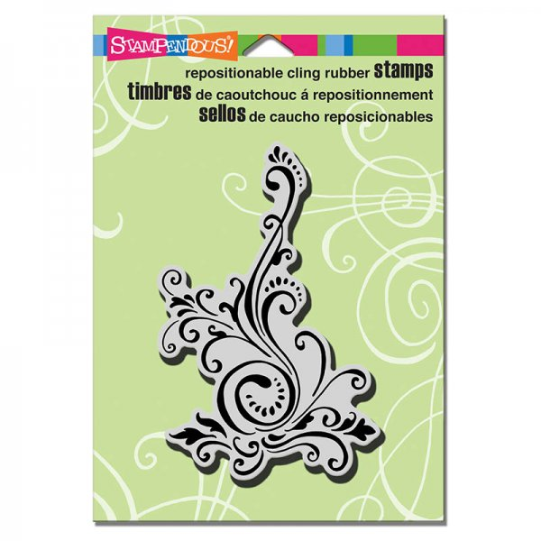"Stampendoues Cling Stempel ""CRP 248 Elegant Scroll"""