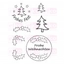 "Efco Clear Stamp Set A7 ""Frohes Fest 3"""