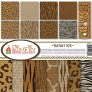 "Papierset  12x12 "" Safari Kit """